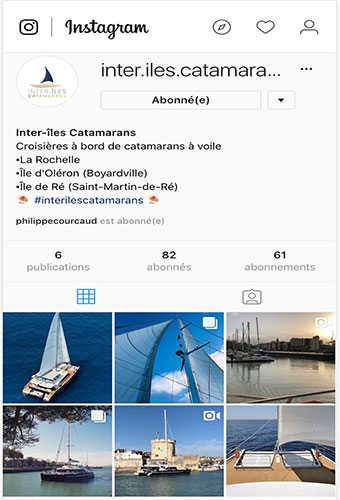 Instagram avec Inter-îles Catamarans